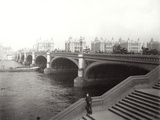 Westminster Bridge and St Thomas's Hospital, London, 1887 Photographic Print