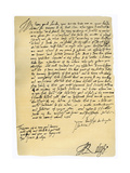 Letter from Sir Walter Raleigh to Robert Dudley, Earl of Leicester, 29th March 1586 Giclee Print by Walter Raleigh
