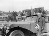 Sir Henry Royce, with Rolls-Royce Car Photographic Print