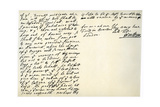 Letter from William Penn to Colonel Henry Sydney, 29th March 1681 Giclee Print by William Penn