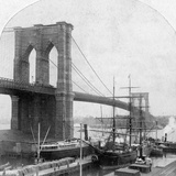 Brooklyn Bridge, New York, USA, Late 19th Century Photographic Print by William H Rau