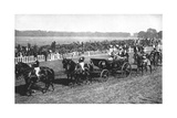 The King and Queen Arriving at the Leopardstown Races, Dublin, July 1911 Giclee Print