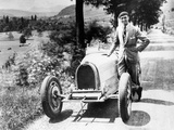 Louis Chiron with His Bugatti Type 51, Near Molsheim, Alsace, France, 1931 Photographic Print