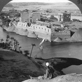 Looking Down on the Island of Philae and its Temples, Egypt, 1905 Photographic Print