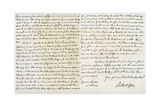 Letter from Robert Clive to Thomas Pelham-Holles, 23rd February 1757 Giclee Print by Robert Clive