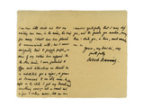 Letter from Robert Browning to William G Kingsland, 27th November 1868 Giclee Print by Robert Browning