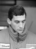 Ayrton Senna, in His First Season with Mclaren, 1988 Photographic Print