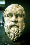 Socrates, Greek Philosopher, Roman Copy of a Lost Greek Original of C370 Bc Photographic Print