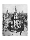 Church of St Clement Danes, the Strand and Fleet Street from Australia House, London, 1926-1927 Giclee Print by  McLeish