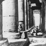 Columns of the Great Temple of Sethos I, Abydos, Egypt, 1905 Photographic Print by  Underwood & Underwood