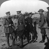 Lord Kichener Reviews the Situation at Gallipolli with Anzac Officers, World War I, 1915-1916 Photographic Print