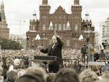 Mstislav Rostropovich, Russian Conductor, Red Square, Moscow, Russia, 1993 Photographic Print