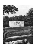 Hyde Park Bird Sanctuary and Hudson Memorial, London, 1926-1927 Giclee Print by  McLeish
