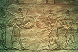 Limestone Relief Showing Hittite Soldiers, Temple of Abu Simbel, Egypt, 14th-13th Century Bc Photographic Print