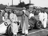 Von Brauchitsch with a 3 Litre Mercedes Benz at the Donington Grand Prix, 1938 Photographic Print