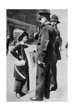 A Suffragette Confronting Two Policemen, 1913 Giclee Print by  Sport & General