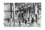 English Troops Inside the Ruins of the Post Office, Anti-English Irish Uprising, Dublin, May 1916 Giclee Print