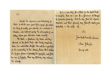 Letter from Dr Samuel Johnson to Warren Hastings, 29th January 1781 Giclee Print by Dr Samuel Johnson