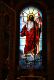 Christ, Stained Glass, St Isaac's Cathedral, St Petersburg, Russia, 2011 Photographic Print by Sheldon Marshall