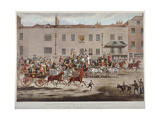 Mail Coaches in Front of the Peacock Inn on Islington High Street, London, 1823 Giclee Print by Thomas Sutherland