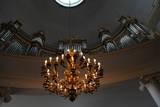 Organ and Chandelier, Lutheran Cathedral, Helsinki, Finland, 2011 Photographic Print by Sheldon Marshall