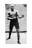 Jack Johnson, the First Black World Heavyweight Boxing Champion, 1908 Giclee Print
