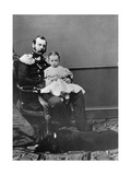 Tsar Alexander II of Russia with His Son, Grand Duke Paul Alexandrovich, C1860-C1861 Giclee Print