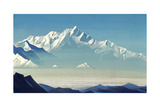Mount of Five Treasures (Two World), 1933 Giclee Print by Nicholas Roerich
