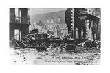 Barricade of Cars, Anti-English Irish Uprising, Dublin, May 1916 Giclee Print