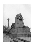 One of the Sphinxes, Victoria Embankment, London, 1924-1926 Giclee Print