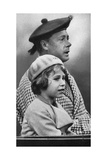 Princess Elizabeth with Her Uncle David, C1936 Giclee Print