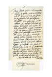 Letter from Philip II of Spain to Pope Gregory XIII, 8th November 1579 Giclee Print