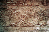 Limestone Relief from the Temple of Rameses II, Abu Simbel, Egypt, 13th Century Bc Photographic Print