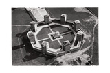 Aerial View of the Tannenberg Memorial, Near Olsztynek, Poland, from a Zeppelin, C1931 Giclee Print