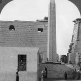 The Obelisk of Rameses II and Front of Luxor Temple, Thebes, Egypt, 1905 Photographic Print