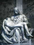 Pieta, 1498-1500 Photographic Print by  Michelangelo Buonarroti