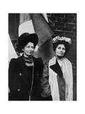 Emmeline Pankhurst, British Suffragette, and Her Daughter Christabel, Early 20th Century Giclee Print