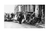 Destoyed Vehicle, Rue De Castiglione, Liberation of Paris, August 1944 Giclee Print