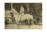 Russian Author Leo Tolstoy on Horseback, Moscow, Russia, 1890s Giclee Print by Sophia Tolstaya