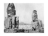 The Colossi of Memnon, Luxor (Thebe), Egypt, C1922 Giclee Print