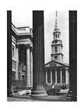 St Martin-In-The-Fields Seen Between the Columns of the National Gallery, London, 1926-1927 Giclee Print by  McLeish