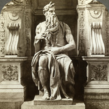 Michelangelo's Statue of Moses, Church of San Pietro in Vincoli, Rome, Italy Photographic Print by  Underwood & Underwood