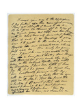 Letter from William Wordsworth on the Death of Samuel Taylor Coleridge, 29th July 1834 Giclee Print by William Wordsworth