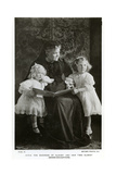The Duchess of Albany and Her Two Eldest Granddaughters, C1910 Giclee Print by  Speaight