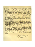 Letter from Michelangelo Buonarroti to His Father, June 1508 Giclee Print by  Michelangelo Buonarroti