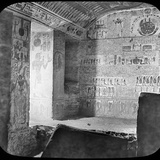 Sarcophagus and Burial Chamber of Rameses Vi, Valley of the Kings, Egypt, C1890 Photographic Print by  Newton & Co
