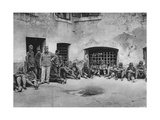 Italian Prisoners in Ljubljana (Laibac) Castle, World War I, 1915 Giclee Print