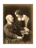 Fyodor Sologub, Russian Poet, with His Wife Anastasia, Early 20th Century Giclee Print by Mikhail Leshchinsky