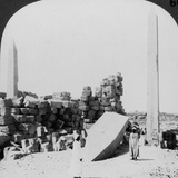 The Tallest Obelisk in Egypt, in the Temple at Karnak, Thebes, Egypt, 1905 Photographic Print