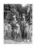 Masks Possessing Magical Qualities, Bismarck Archipelago, Papua New Guinea, 1920 Giclee Print by  Strecker and Schroder